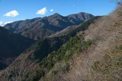 檜洞丸方面の眺め