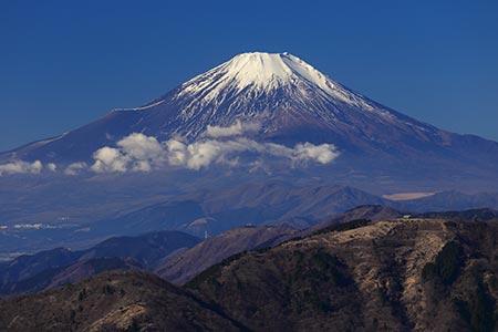 雪が少ない富士山