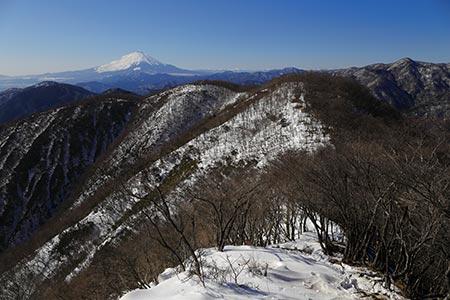 鍋割山稜からの富士山